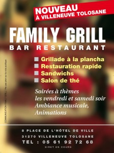 Familly Grill, flyer ouverture